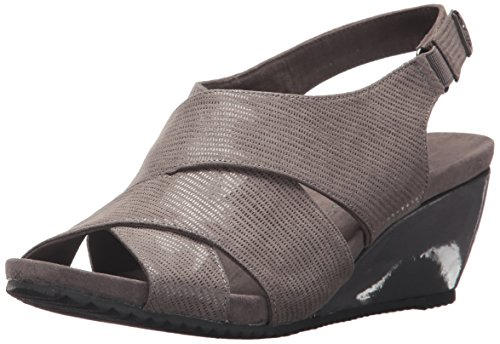 Anne Klein Women's Carolyn Fabric Wedge Sandal Pewter outlet best store to get Cheapest marketable many kinds of cheap online discount big discount KSU0JA
