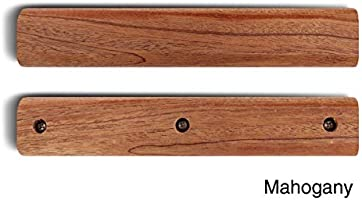 QQMaster Wooden Handle for Big Green Egg Easy to Install Fits Large XLarge Big Green Egg Brown-9 inches 3 Durable Screws Included