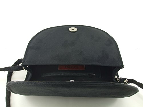 Saddle Body Beauty LONI Size Bag Womens Shoulder Compact Bag Cross Black wYqBFxB1