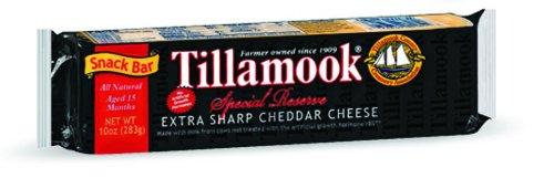 TILLAMOOK Extra Sharp Cheddar Cheese Bar, 10 Ounce (Pack of 12)