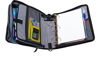 Case-it Mighty Zip Tab 3-inch Zipper Binder, Black, D-146-blk 2
