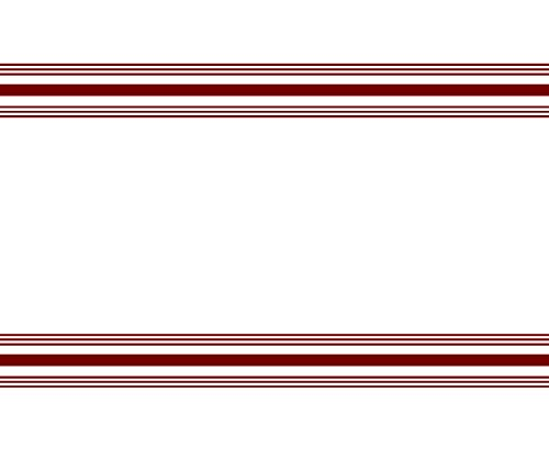 Garnier-Thiebaut Bistro Napkin Stripe in Polyester, White with Red