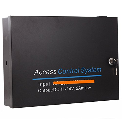 UHPPOTE Input AC 110V to Output DC12V 5A Metal Power Box Supply For Door Access Control (Output Access Control)