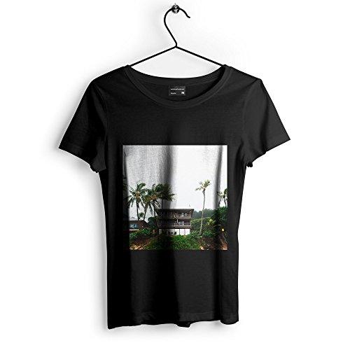 Westlake Art Unisex T-Shirt - South Beach - Graphic Tee - Black Adult Medium (e3t 7a0 cd9) (Hut Seas South)