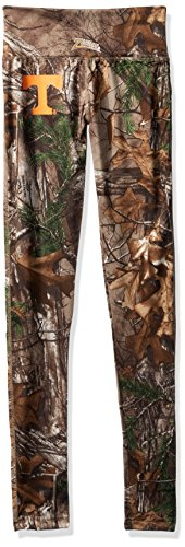 (Zubaz NCAA Tennessee Volunteers Women's Realtree Xtra Print Team Logo Leggings, Medium, Camo)
