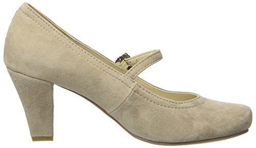 Mujer Beige 066 Tacón Zapatos taupe Para Punta 3591505 Con Cerrada Hirschkogel De wzPOq78t