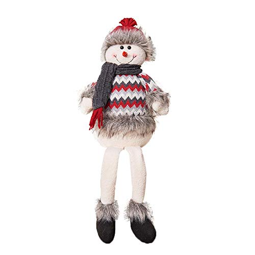 Yunt Christmas Wool Wooden Santa Snowman Doll Decoration for Chidren