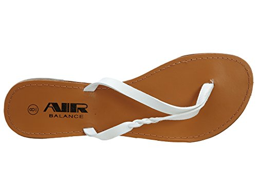 Air Balance Zwart Fashion Sandalen Dames Wit