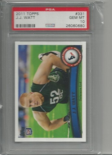 2011 topps j.j. watt rookie graded psa 10 football from Topps