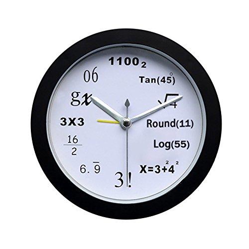 Glumes Mathematics Alarm Clock Modern Silent Wall Clock