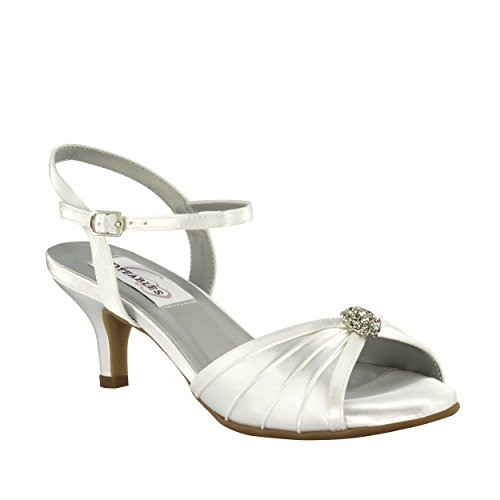 Dyeables Women's Kelsey Dress Sandal, White, 9.5 W (Dyeable Dress Shoes)