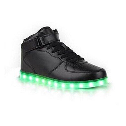 SAGUARO 7 Farbe USB Aufladen LED Leuchtend Sport Schuhe Sportschuhe Sneaker Turnschuhe für Unisex-Erwachsene Herren Damen