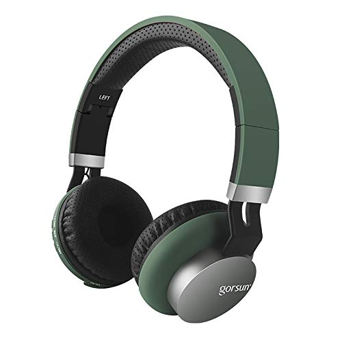 Sophia Active Noise canceling Headphones Foldable Wireless Bluetooth Headset Built-in Microphone Hi-Fi deep bass Soft Memory Protein Earmuffs,Green