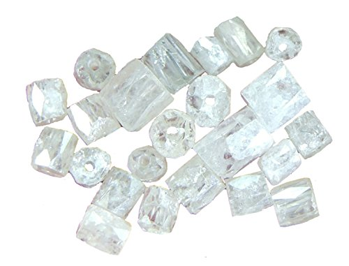 Natural Loose Diamond Drilled Beads Pipe Shape Ice Grey Color 1.50 to 2.00 MM 1.00 Ct Lot Q143 by lukhidiamond