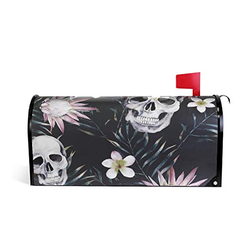 (WOOR Decoration Motif for Tattoo Halloween Skull Magnetic Mailbox Cover Oversized-20.8