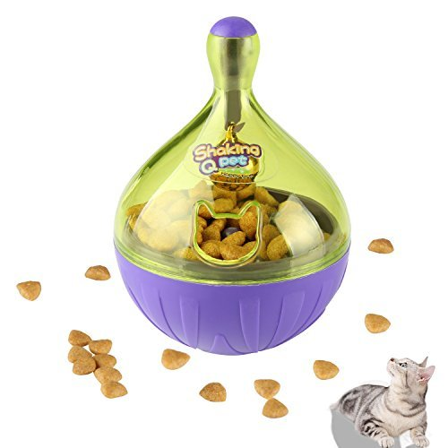 ONSON Interactive Cat Toy - Dogs & Cats Increases IQ and Mental Stimulation Pets Treat-dispensing Ball - Squeaky Ball Cat Toy for Small Cats (Cat toys) by ONSON (Image #1)