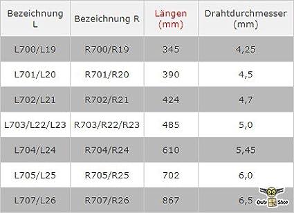 703 R//L 700 701 L700 702 Torsionsfeder passend zu H/örmann Torfeder Garagentorfedern 705 704 707