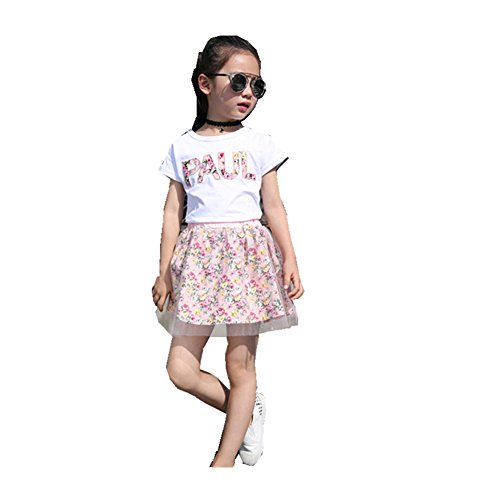 ftsucq-girls-letter-gauze-top-shirt-with-skirt-two-pieces-sets-pink-110
