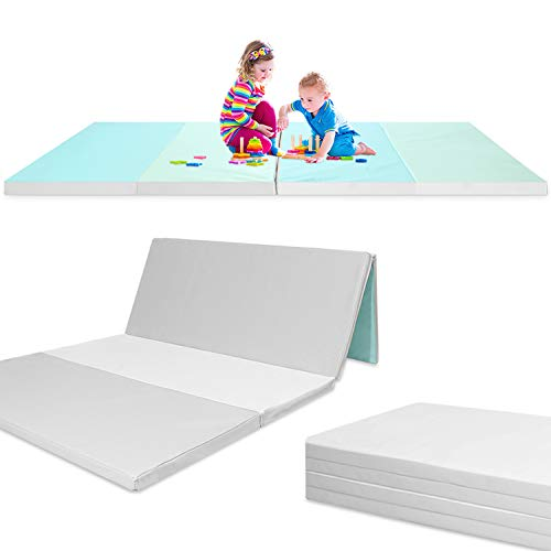 Folding – Reversible – Non-Slip Waterproof Baby and Toddler Activity Play Mat Gym