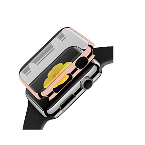 Price comparison product image GBSELL Ultra-Slim Electroplate PC Hard Case Cover For Apple Watch Series 2 38mm (Rose Gold)