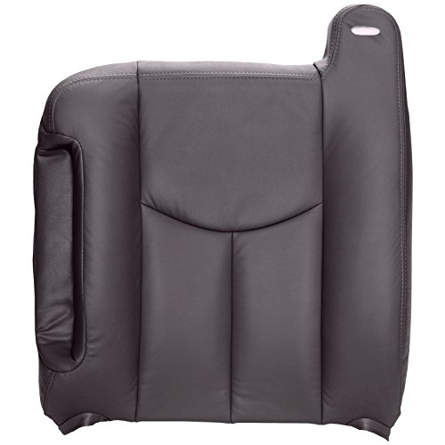 The Seat Shop Driver Top Replacement Seat Cover - Very Dark Pewter (Dark Gray) Leather (Compatible with 2003-2006 Chevrolet Silverado and GMC Sierra) (Leather Seat Top Grain)