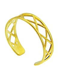 Yellow Gold X Toe ring (10K Gold)