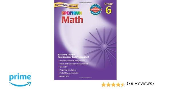 Spectrum Math, Grade 6: Thomas Richards: 0087577913964: Amazon.com ...