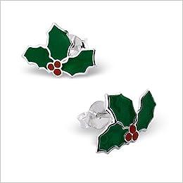 Amazoncom Pro Jewelry 925 Sterling Silver Christmas Mistletoe