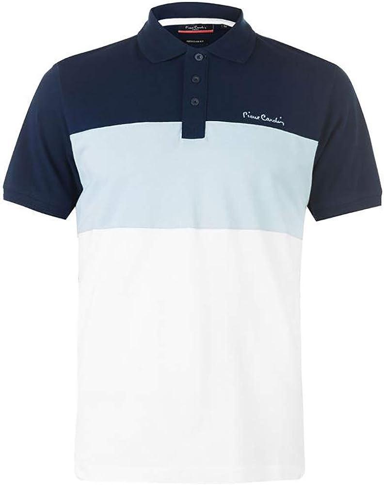 Pierre Cardin - New Season - Polo de piqué para hombre, 100% algodón, corte y costura, con cuello de piqué, con bordado de la firma