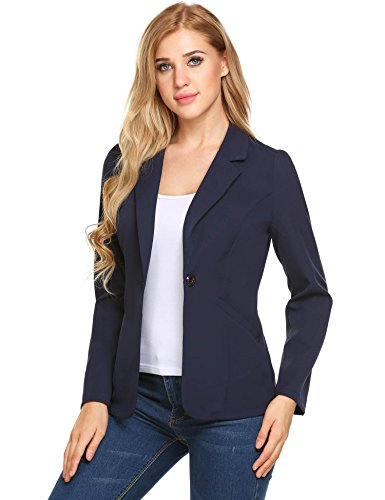 Women's Slim Business Blazer Blue - 2