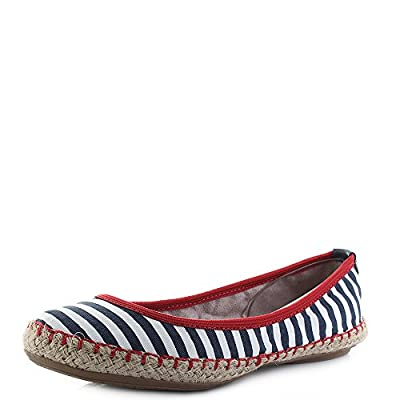 Butterfly Twists Gigi - Navy/White Stripe (Textile) Womens Shoes