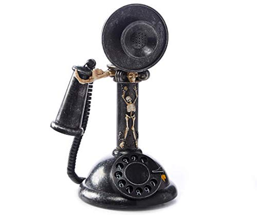 AAN Haunted Hollow Skeleton Candlestick Rotary Phone ()