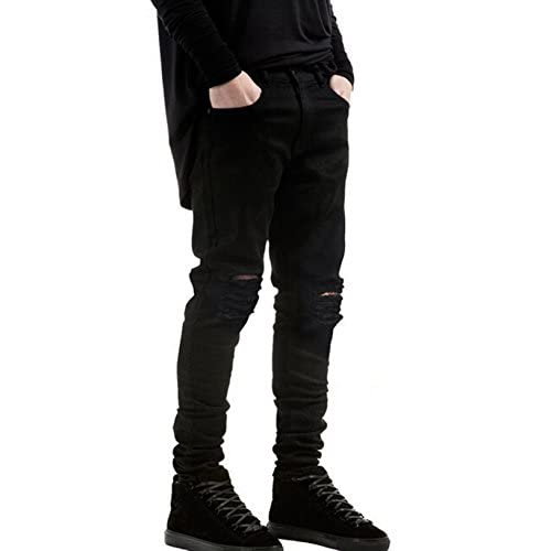 b9255118 85%OFF Sarriben Mens Slim Fit Jean Knee Ripped Skinny Denim Casual Stylish  Jean Pant