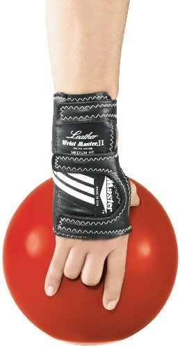 Master Industries Wrist Master II Leather Bowling Gloves, Medium, Left Hand by Master Industries