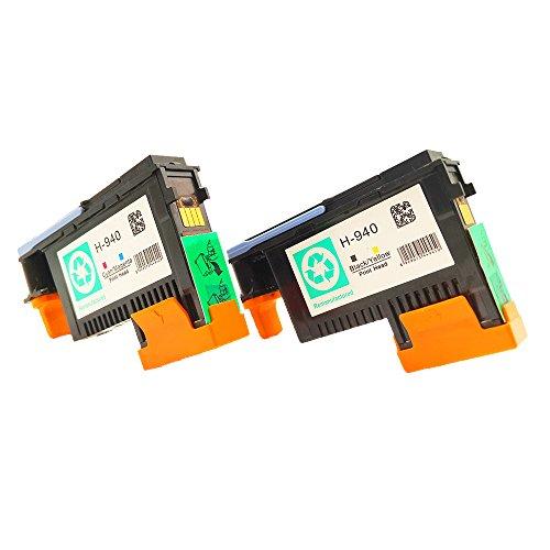 Printhead 940 Officejet - QINK 2 Pack for 940 Printhead BK/Y (C4900A) M/C (C4901A) for Officejet Pro 8000 8500 8500a 8500a Plus 8500a Premium