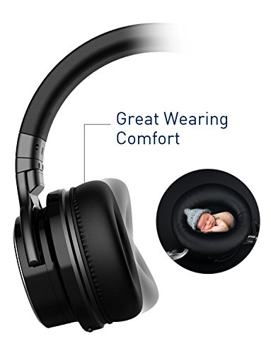 COWIN E7 PRO [Upgraded] Active Noise Cancelling Headphones Bluetooth Headphones with Microphone/Deep Bass Wireless Headphones Over Ear 30H Playtime for Travel/Work/TV/Computer/Cellphone - Black by cowin (Image #2)