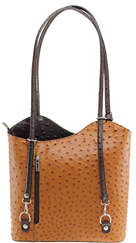 Sac cm Fonce épaule Marron Cognac OH MY 28x30x9 à cuir main porté BAG Sac en femme x8CR7q