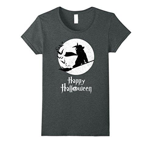 Womens Witch TEA CUP POODLE Dog T-shirts Halloween Costume Medium Dark (Teacup Costume)