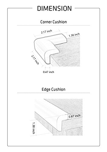 PRE-TAPED Edge & Corner Guards [16.4ft Edge Safety Bumpers+8 Corner Cushion]- Furniture Table Edge Corner Protector and Corner Guard for Baby Child Kids Safety- Extra Dense - 10s to install (Black) by mambabydad (Image #6)