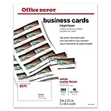 Office Depot(R) Laser/Inkjet Matte Business Cards, 2in. x 3 1/2in, White, Box Of 300