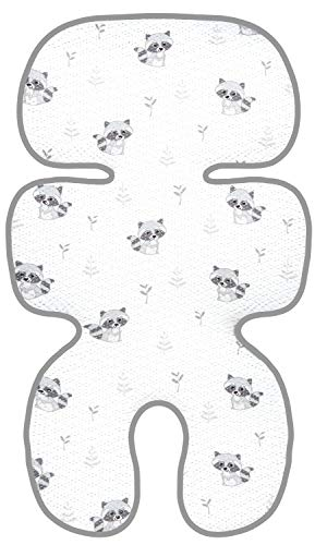 Manito Clean Basic 3D Mesh Seat Pad/Cushion/Liner for Stroller and Car Seat (Raccoon Grey)
