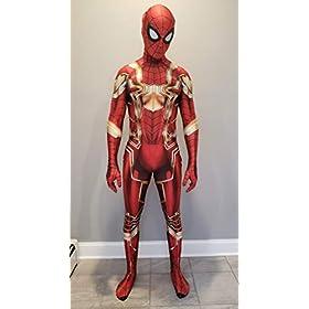 - 41rya3mCM0L - Spider-Man Cosplay Costume | Iron Spider | PS4 Insomniac Spiderman | Bagley | Superior |All New Lycra Fabric | Bodysuit