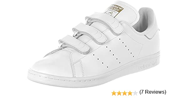 adidas Stan Smith Cf - Zapatillas de running Hombre, Blanc (Ftwr White/Ftwr White/Gold Met), 42 2/3 EU: Amazon.es: Zapatos y complementos