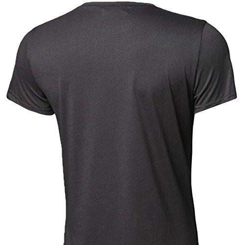 Fit Maniche Flag Nero T Moda Uomo Slim A Top Da Camicetta shirt Corte Elecenty Casual XSROqUw
