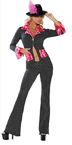 Woman's 2 Pc. Pimp Girl Costume - Pimp And Ho Costumes For Halloween