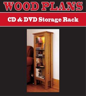 Cd Dvd Storage Rack Woodworking Paper Plan Pw10035 Indoor