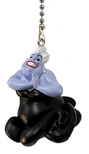 Disney Classic Disney Movie Villains Assorted Character Ceiling Fan Pull Light Chain, Urula the Sea Witch from The Little Mermaid by Knight
