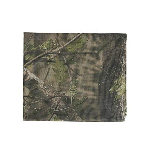 (Auscamotek Woodland Camo Mesh Netting Camouflage Netting for Hunting Blinds Window Camping Shooting Clear View Camo Hunting Hide Net, Green 5 ft x 12 ft (appro))