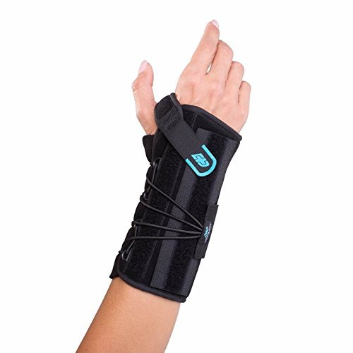 DonJoy Advantage Stabilizing Speed Wrist Brace for Carpal Tunnel, Sprains, Strains, Tendonitis, Instabilities - Palm, Dorsal Stays, Speed-wrap Lace System. Adjustable to fit 5.5