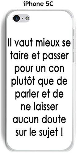 Cover Apple iPhone 5C Design citazione Il Meglio testo nero Sfondo Bianco